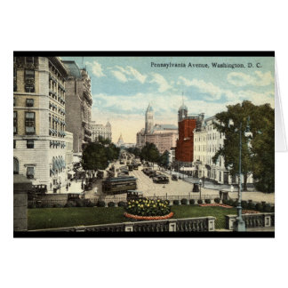 Pennsylvania Ave Washington DC Repro Vintage 1912 Card