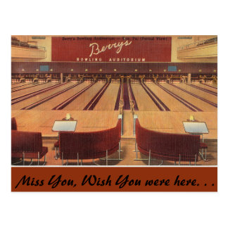 Pennsylvania, Berry's Bowling, Erie Postcard