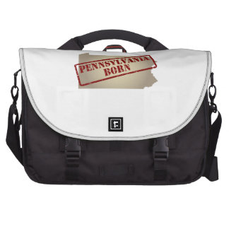 Pennsylvania Born - Stamp on Map Laptop Commuter Bag