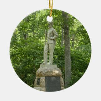 Pennsylvania Bucktails Gettysburg Ornamen Round Ceramic Decoration