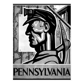 Pennsylvania Coal Poster WPA 1938 Postcard
