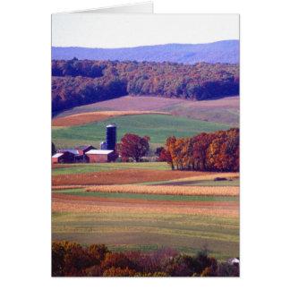 Pennsylvania Farm in Autumn Card