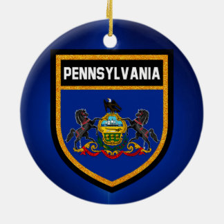 Pennsylvania Flag Ceramic Ornament