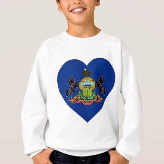 Pennsylvania Flag Heart Sweatshirt