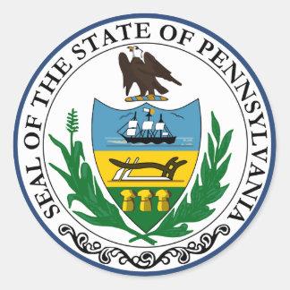 Pennsylvania Great Seal Round Sticker