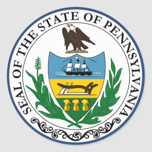 Pennsylvania Great Seal Round Stickers