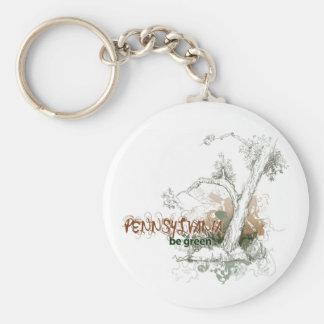 Pennsylvania Green Tree Keychain