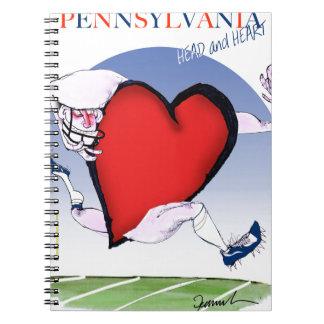 pennsylvania head heart, tony fernandes notebook