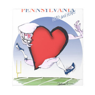 pennsylvania head heart, tony fernandes notepad