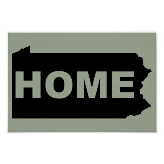 Pennsylvania Home Away From State T-Shirt Poster