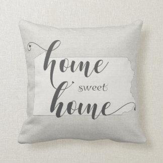 Pennsylvania  - Home Sweet Home burlap-look Cushion
