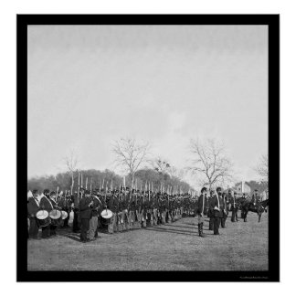 Pennsylvania Infantry Parade at Beaufort, SC 1862 Poster