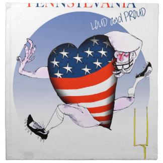 pennsylvania loud and proud, tony fernandes napkin