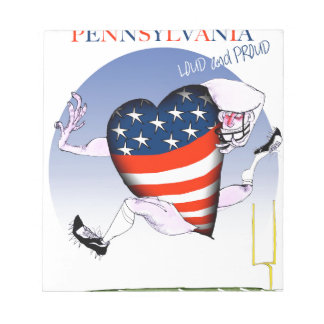 pennsylvania loud and proud, tony fernandes notepad
