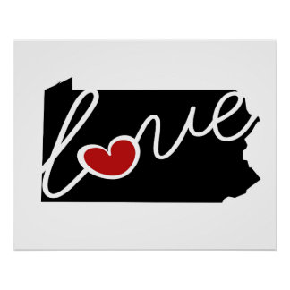 Pennsylvania Love!  Gifts for PA Lovers Print