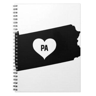 Pennsylvania Love Notebook