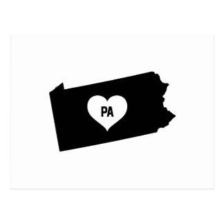 Pennsylvania Love Postcard