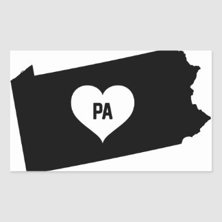 Pennsylvania Love Rectangular Sticker