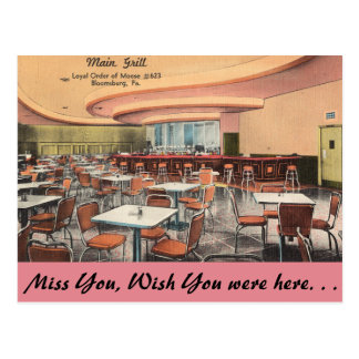 Pennsylvania, Main Grill, Bloomsburg Postcard