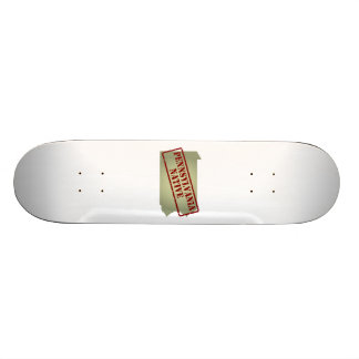 Pennsylvania Native Stamped on Map Skateboard Deck
