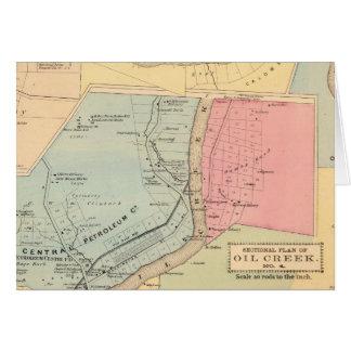 Pennsylvania Oil Creek Counties Card