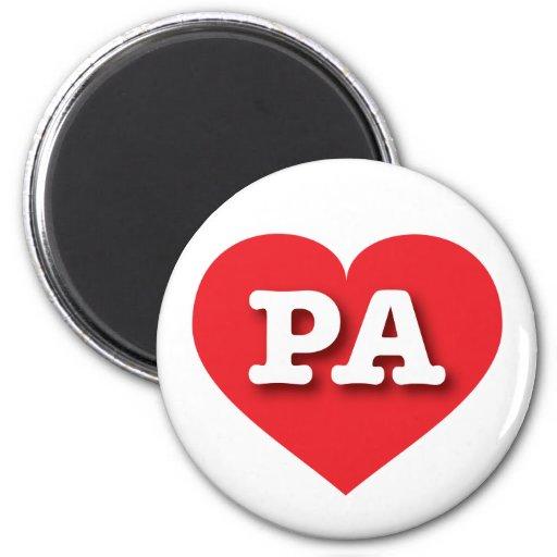 Pennsylvania PA red heart Refrigerator Magnet