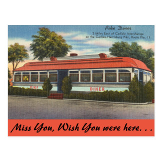 Pennsylvania, Pike Diner Postcard