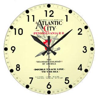 Pennsylvania Railroad Atlantic City Service 1904 Large Clock