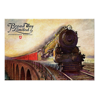 Pennsylvania Railroad Broadway Limited Poster