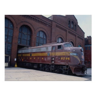 Pennsylvania railroad EMD E-8 restored in 1988, Re Postcard