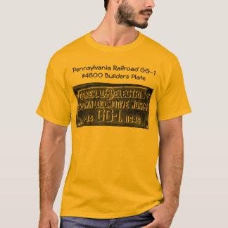 Pennsylvania Railroad GG-1 #4800 Builders Plate T-Shirt