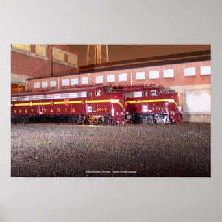 Pennsylvania Railroad (JTFS)Night Photo Shoot Poster