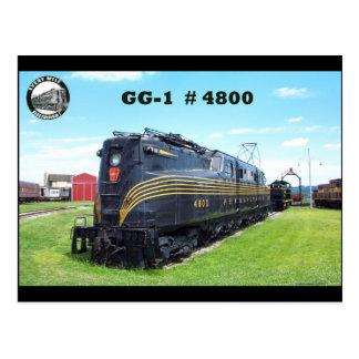 Pennsylvania Railroad Locomotive GG-1 4800 -2- Postcard