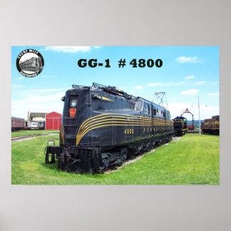 Pennsylvania Railroad Locomotive GG-1 #4800 -2- Poster
