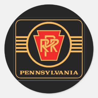 Pennsylvania Railroad Logo, Black & Gold Classic Round Sticker