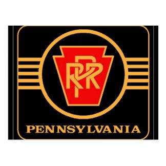 Pennsylvania Railroad Logo, Black & Gold Post Card