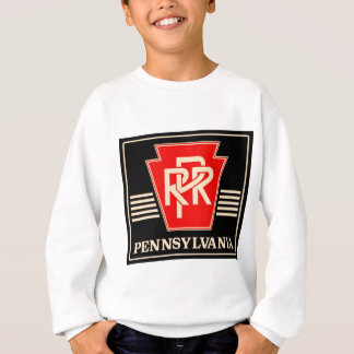 Pennsylvania Railroad Logo Black & Gold Sweatshirt
