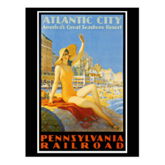 Pennsylvania Railroad to Atlantic City Postcard
