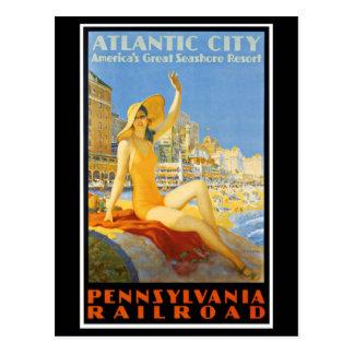 Pennsylvania Railroad to Atlantic City Postcard