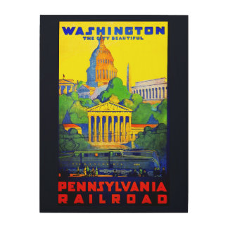 Pennsylvania Railroad to Washington D.C. Wood Print