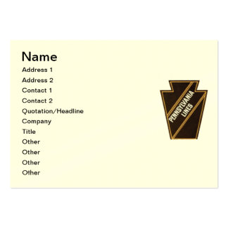 Pennsylvania Railroad Vintage Logo Business Cards Chubby Business Cards