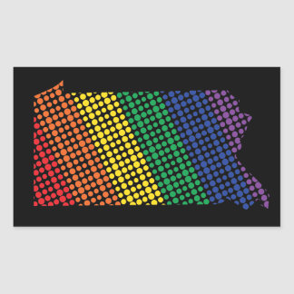 Pennsylvania Rainbow State Rectangular Sticker
