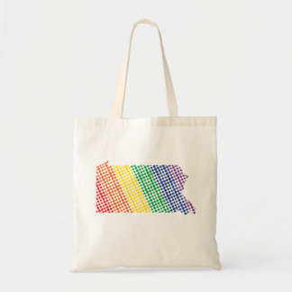Pennsylvania Rainbow State Tote Bag