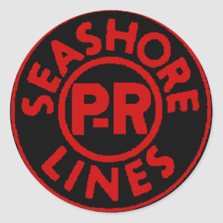 Pennsylvania Reading Seashore Lines Logo Classic Round Sticker