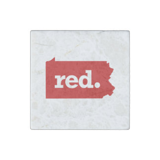 PENNSYLVANIA RED STATE STONE MAGNET