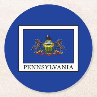 Pennsylvania Round Paper Coaster