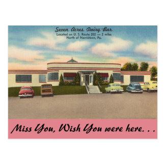 Pennsylvania, Seven Acres Dairy-Bar Postcard