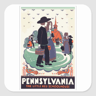 PENNSYLVANIA SQUARE STICKER