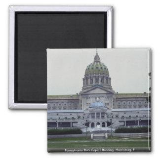 Pennsylvania State Capitol Building, Harrisburg, P Square Magnet