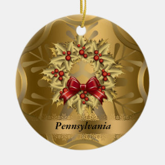 Pennsylvania State Christmas Ornament
